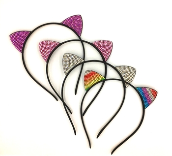 Image Small Rhinestone Cat Ears