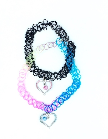 Image Tattooz Hearts Choker