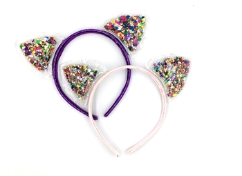 Image Glitter Cat Ears Headband