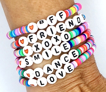 Image Rainbow Baby Beaded Stretch Bracelets