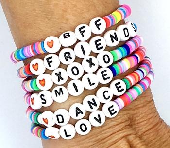 Image Rainbow Baby Beaded Stretch Bracelets