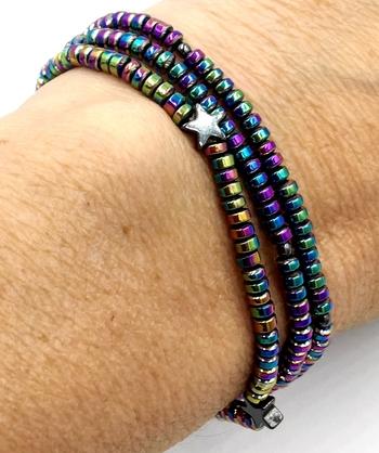 Image Rainbow Star Beaded Bracelet/Necklace