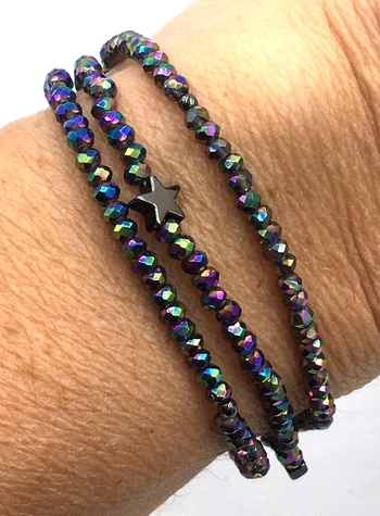 Image Faceted Beaded Star Bracelet/Necklace