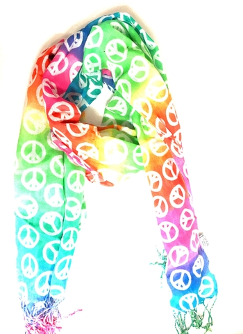 Image Rainbow Peace Scarf