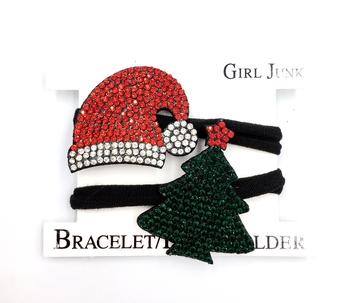 Image Rhinestone Christmas Bracelet Pony Set