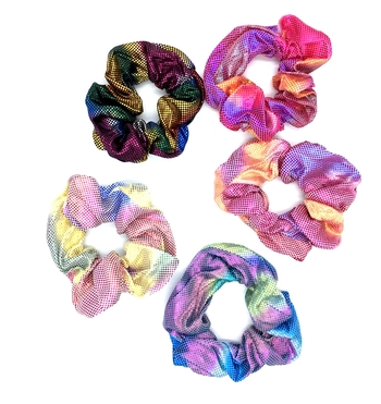 Image Metallic Rainbow Scrunchie