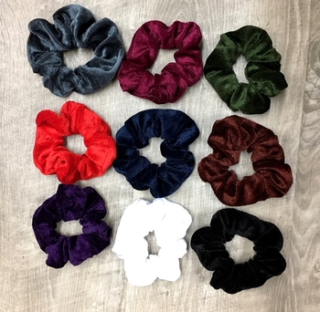 Image Velvet Color Scrunchies