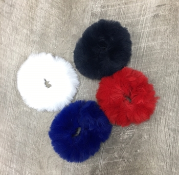 Image Faux Fur RWBB Scrunchies