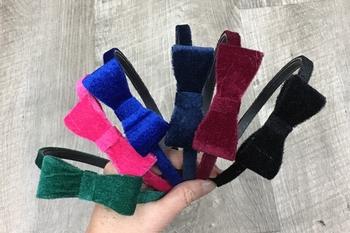 Image Velvet Bow Headband