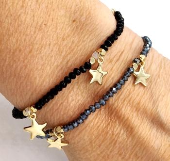 Image Star Stretch Beaded Bracelet