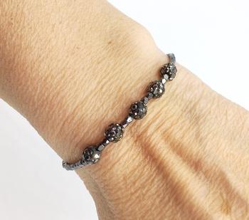 Image Delicate 5 Shamballa Ball Pull tie Bracelet