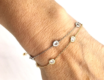 Image Diamonds by the Yard Pull Tie Bracelet