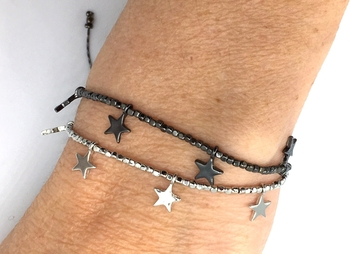 Image Metal Star Pull Tie Bracelet
