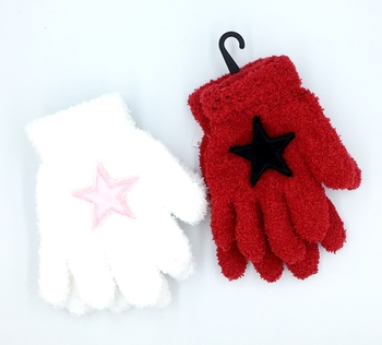 Image Child Size Fuzzy Star Gloves