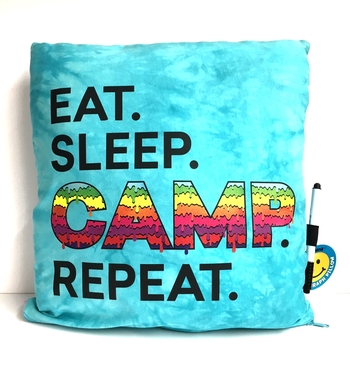 Image Eat Sleep Camp Repeat Autograph Pillow