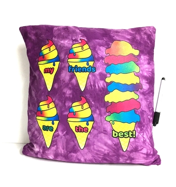 Image My Friends are the Best Ice Cream Autograph Pillow