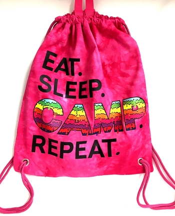 Image Eat Sleep Camp Repeat Jersey Sling Bag