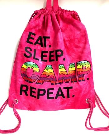 Image Eat Sleep Camp Repeat Jersey Sling Bag
