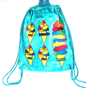 Image My Friends are the Best Ice cream Cones Jersey Sling Bag