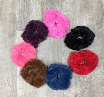 Image Faux Fur Primary Scrunchies