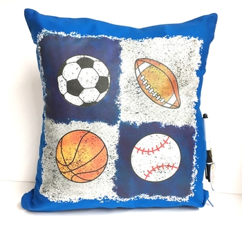 Image Quad Sports Autograph Pillow