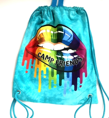 Image Camp Friends Lips Jersey Sling Bag