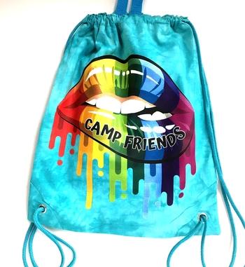 Image Camp Friends Lips Jersey Sling Bag