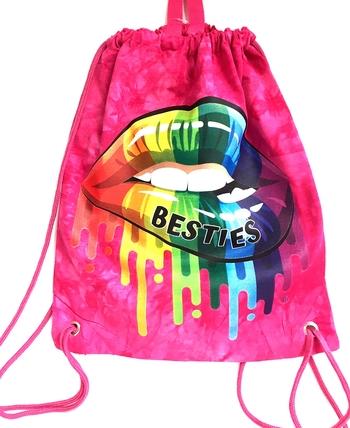Image Bestie Lips Jersey Sling Bag