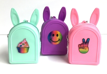 Image Silicone Backpack  Purse  Keychain