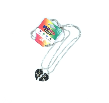 Image Mood Bff Hearts on Ball Chain 2pc