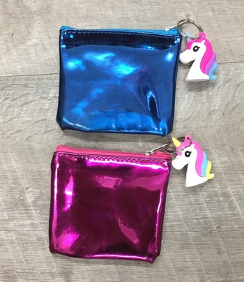 Image Patent Purse with Unicorn Charm