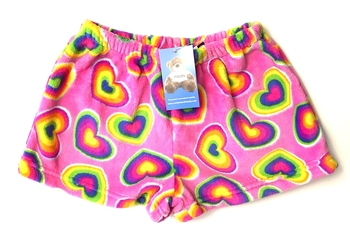 Image Rainbow Heart Fun Fuzzie Shorts