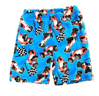 Image Race Car Fuzzy Pajama Boy Shorts