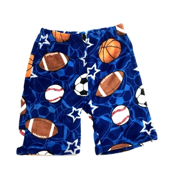 Image Sports on Sports Fuzzy Pajama Boy Shorts
