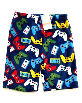 Image Gamer Fuzzy Pajama Boy Shorts