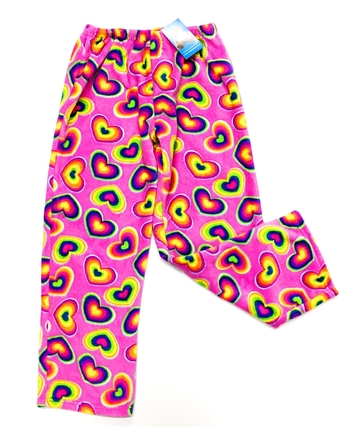 Image Rainbow Hearts Fun Fuzzie Pant