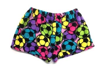 Image Pastel Soccer Fuzzy PajamaShort