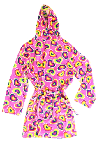 Image Rainbow Heart Fun Fuzzie Robe