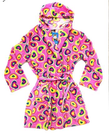 Image Rainbow Heart Fun Fuzzie Robe