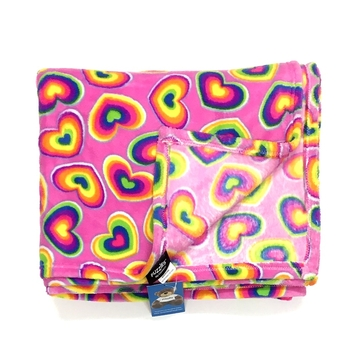 Image Rainbow Hearts Fun Fuzzie Blanket