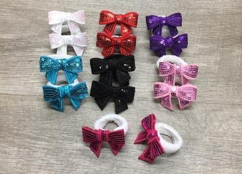 Image Sequin Bow Pony Pairs