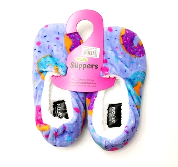 Image Delish Donuts Fun Fuzzie Slippers