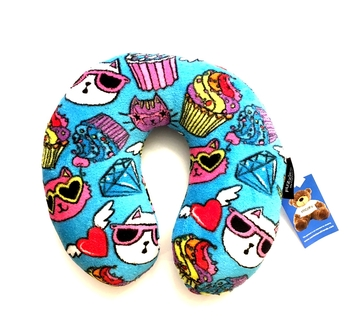 Image Cats & Cupcakes Fuzzie Neck Roll Pillow