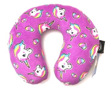 Image Pretty Unicorn Fuzzie Neck Roll Pillow