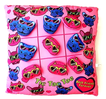 Image Cats & Dogs Tic Tac Toe Pillow