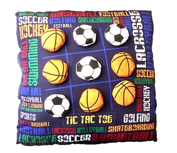 Image Tic Tac Toe Pillow Sports Graffiti
