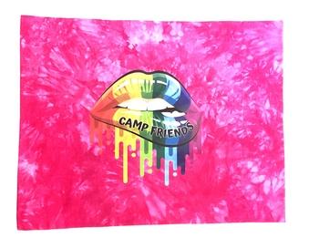 Image Camp Friends Lips Autograph Jersey Pillow Case