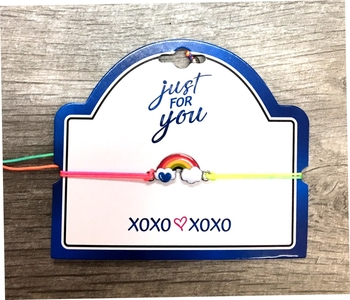 Image Rainbow Clouds pull tie Bracelet