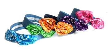Image Bandana Bow Fashion Colors Denim Headband