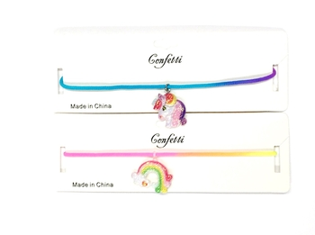 Image Sparkle Rainbow and Unicorn  Confettio Choker